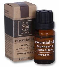 APIVITA 100% Organic CEDARWOOD Cedrus Atlantica Bio Pure Essential Oil 10 ml