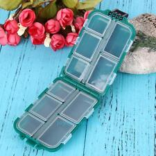 Plastic Fishing Lure Tackle Box Square Fishhook Container Small Accessory