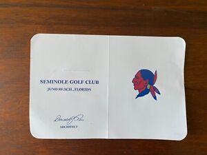 Seminole Golf Club scorecard from the 2021 Walker Cup