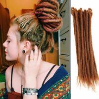 "20"" Charming Handmade Colorful Wool Dreads Festival Dreadlocks Hair Extensions"