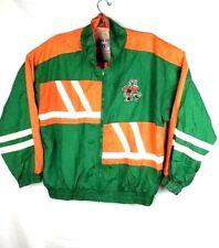 VTG Miami Hurricanes NCAA Lightweight Windbreaker Jacket Coat XL Mens Large