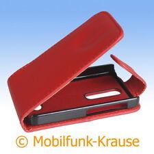 Flip Case Etui Handytasche Tasche Hülle f. Nokia Asha 501 (Rot)