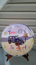 Rare Dean Miller Surf Wall Clock .one of a kind. AA Single Battery not included