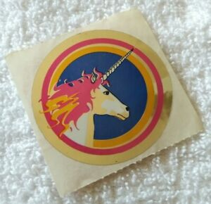 Vintage 80s sticker mylar foil shiny Sandylion unicorn