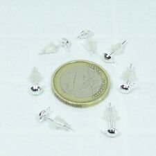 200 Pendientes Base 13x5mm  T368A  + Gratis 200 Topes Silver Earrings Perline