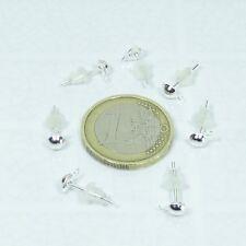 200 Pendientes Base 13x5mm  T368A  + Gratis 200 Topes Silver Earrings Perline
