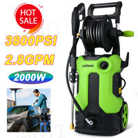 3500PSI 2.8GPM Electric Pressure Washer 2000W Powerful Home Water Cleaner Kits!
