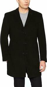 Mens Calvin Klein Prosper Slim Fit Overcoat Size 42L Black