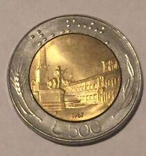Italian REPVBBLICA ITALIANA L.500 coin Italy 1987