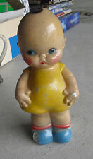 "BIG Vintage 1930s Chalkware Kewpie Girl with Wings Bank 11 3/4"" Tall"