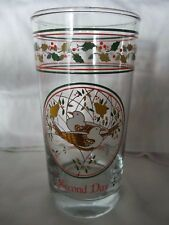 12 Days of Christmas Glass Tumbler 2ND Day Replacement - Anchor Hocking