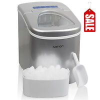 Nugget Ice Maker Portable Cube Machine Compact Counter Top Refrigerator Freezer
