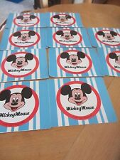 Vintage Mickey Mouse Stickers - Walt Disney Productions - New - Blue . qty 10 .