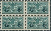 Stamp Germany Revenue Block WWII 3rd Reich War Era Work Due 015 MNH