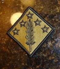 ARMY PATCH,SSI, MULTICAM, OCP,SCORPION,W/hook loop , 20TH SUPPORT COMMAND