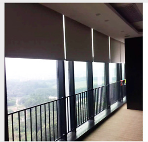 custom made motorized wifi controlled Electric windows ceiling roller blinds