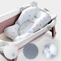 Baby Bath Tub Support Mat Foldable Infant Anti-slip Soft Comfort Pillow Chair