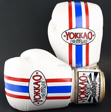 Muay Thai Boxing Gloves YOKKAO THAI Flag 14oz MMA BJJ Premium Leather