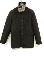 BURBERRY women's Quilted Jacket Coat Brown Size 34 Nova Check EX condition