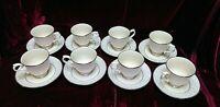 BEAUTIFULY ELEGANT 8 piece set Lenox  Pearl Innocence  tea cup and saucer