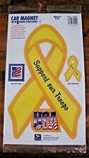 "SUPPORT OUR TROOPS RIBBON MAGNET 9"" CAR AUTO REFRIGERATOR KITCHEN MADE IN USA"
