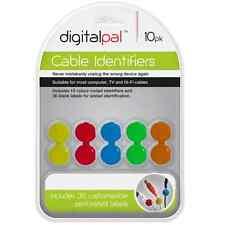 10pk Cable identificadores codificados por color identificadores de administración de cables para el hogar