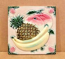 New listing Dk Japanese Fruit Tile, Dk, Danto Kaisha, 1920's, 6x6, Bananas, Pineapple, Japan