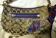 COACH Signature Poppy Groovy Tartan Applique Convertible Shoulder bag 15880