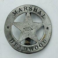 Vtg Deadwood Marshal Badge Pin Western West Lawman Police Metal Novelty Replica