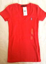 Ralph Lauren V Neck Plus Size Basic T-Shirts for Women
