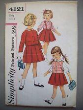 1960's Girl's school skirt jacket blouse pattern 4121 size 5