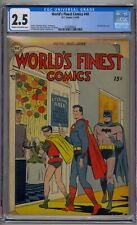WORLD'S FINEST COMICS #40 CGC 2.5 WIN MORTIMER COVER