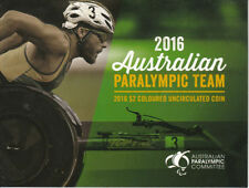 20 X 2016 PARALYMPIC OLYMPIC $2 AUSTRALIAN COIN EMPTY FOLDER  RAM ISSUE