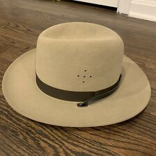 Beaver Quality 5x Sheriff's Felt Hat New in Original Box 6 7/8 Tan