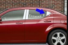 08-14 Dodge Avenger Rear Triangle Door Cover Pillar Post Stainless Steel Trim
