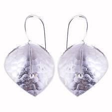 Hill tribe silver Hammered Earrings flower Karen