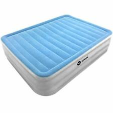 Inflatable Queen Air Mattress - Premium Raised Blow Up Air Bed 21.5 Inches Hi...