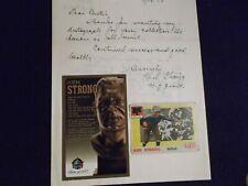 Ken Strong  Signed  Letter With HOF  Card.