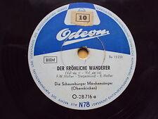 W/12/13 Schellackplatte fröhliche Wanderer  Abendlied Schaumburger Märchensänger