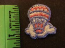 HOT AIR BALLOON IN CLOUD,1-INCH, EMBROIDERY APPLIQUE PATCH EMBLEM LOT (36 DOZEN)