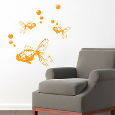 GOLDFISH WALL ART STICKER DECAL ANIMALS KOI an5