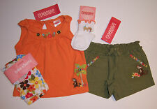 NWT Gymboree Island Getaway Monkey Tank Top Floral Bike Shorts Socks 3-6 Months