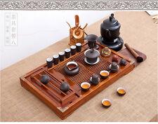 Set da Tè cinese in legno massello Grande Vassoio Da Tè Tè di bambù accessori COPPA Stand