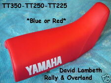 Blue - Red Yamaha TT250 TT350 Seatcover Funda Asiento Coprisella Housse de Selle