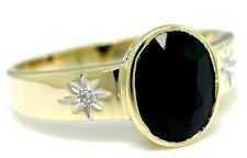 Gold Antique Style Ring 30 Day Returns 2.0ct Sapphire & Diamond 9ct 9K Solid