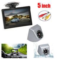 Car Backup Camera Rear View Parking System 8 LED Night Vision 5 TFT LCD Monitor