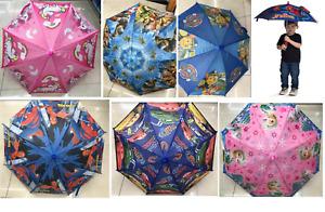 Kids Umbrella Disney Frozen Paw Patrol Dinosaur Unicorn Spiderman Girls Boys UK