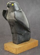 Egyptian God Horus Black Falcon Louvre Museum Alva Replica 1950's Sculpture