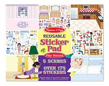 Melissa & Doug Reusable Sticker Pad Play House! #4197  new sealed