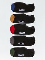Globe Socks 5 Pack Dip Invisible No Show Assorted Size 7-11 Skateboard Sox